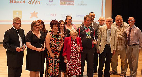 <p>Winners of the Inspiring Volunteer Awards 2016. [Image courtesy: Improving Lives Plymouth]</p>