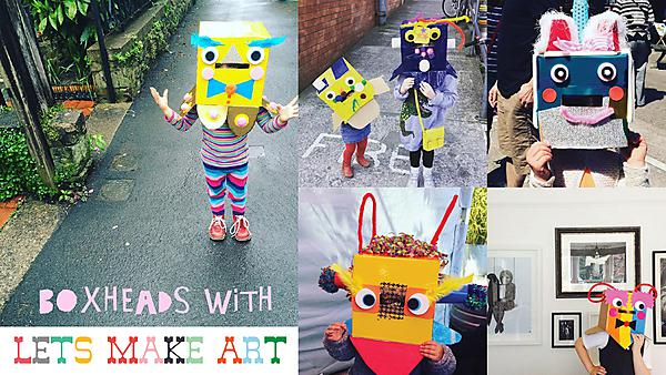 Family workshop: Make a Boxhead costume with Let's Make Art