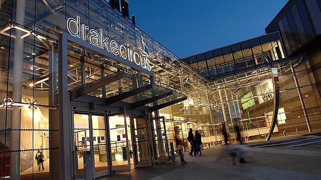 <p>Drake's Circus shopping centre</p>