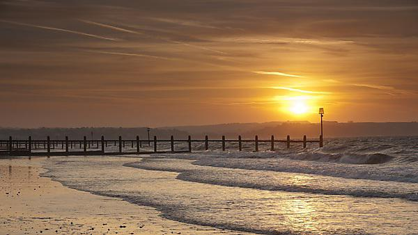 <p>Dawlish Warren beach at sunrise</p>
