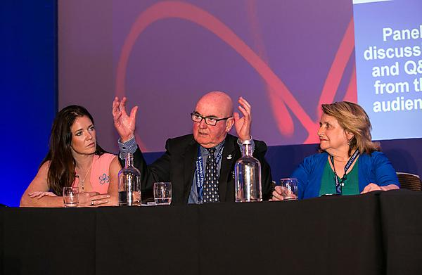 <p>Ian Sherriff and members of the experts panel at the national Alzheimer's Society conference</p>