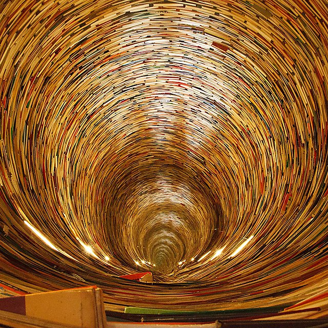 <p>Picture of tunnel of books 