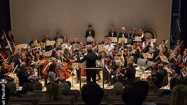 <p>Plymouth University orchestra Christmas concert - Peninsula Arts. Photo by Neil