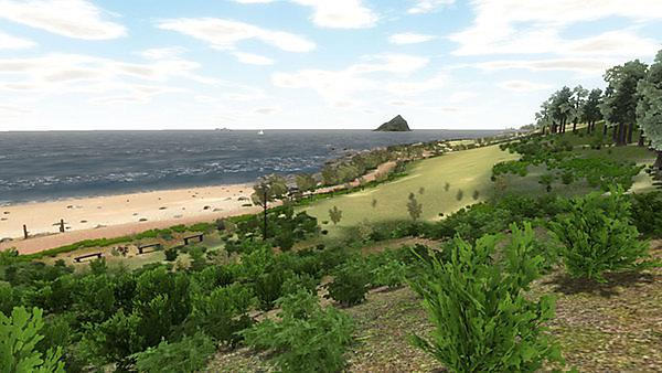 <p>A scene from the virtual reality visit to Wembury beach in Devon</p>