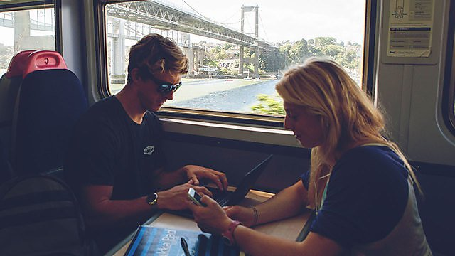 <p>Getting here train, Tamar, cornwall</p>