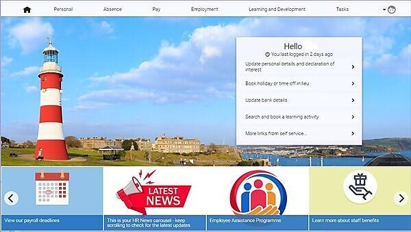 <p>Employee Self Service Screen<br></p>