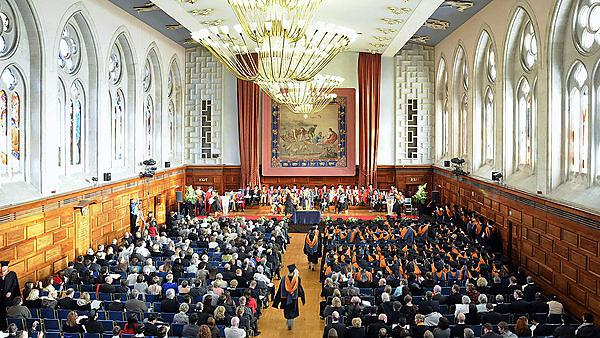 <p>Graduation ceremony at Plymouth Guildhall</p>