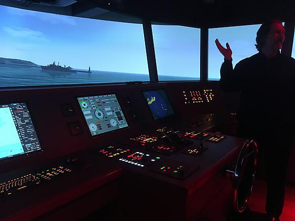 <p>Plymouth ship simulation room</p>
