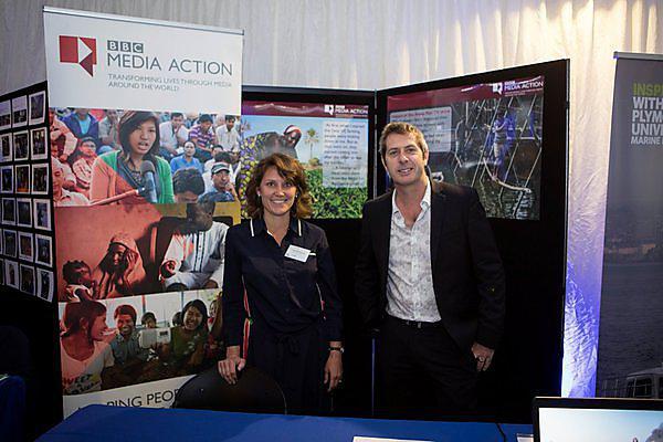 <p>  <em></em>Lisa Robinson, Senior Adviser at <em></em>BBC Media Action with Professor Iain Stewart</p><p> <br></p>