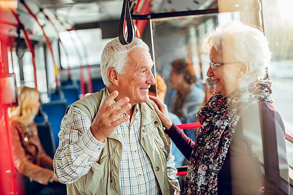 <p>Older people on the bus</p>