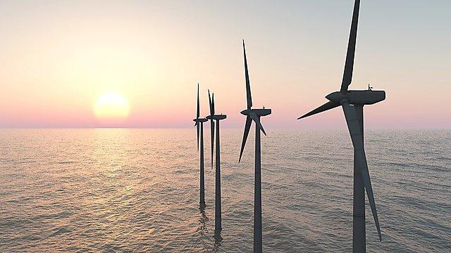 <p>  </p><div><div>Offshore wind farm at sunset. Image courtesy of Getty Images.</div></div><p></p>