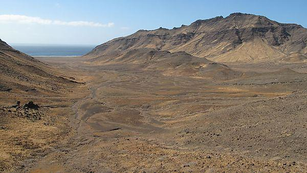Climate-related erosion of volcanic island landscapes, Cape Verde