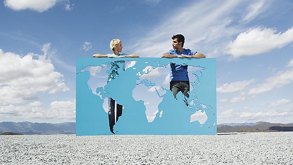 <p>People world map</p>