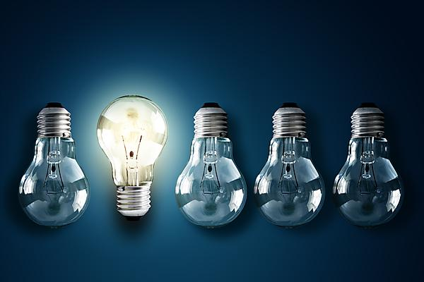 <p>Innovation light bulbs</p>