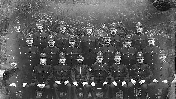 <p>Devonport Police, 1913. Image credit: Plymouth City Council Central Library.</p>
