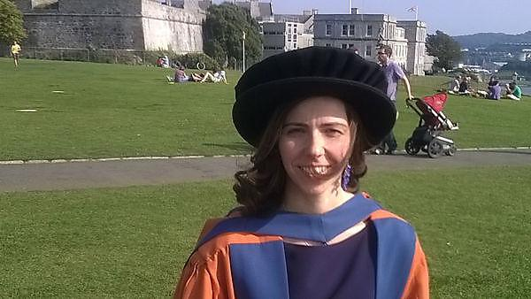 Francesca at her graduation ceremony, which took place on Plymouth Hoe