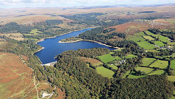 Burrator reservoir and dam, Dartmoor