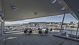 Panoramic views of Plymouth and out to Plymouth Sound, one of the world's best natural harbours, from the roof terrace.