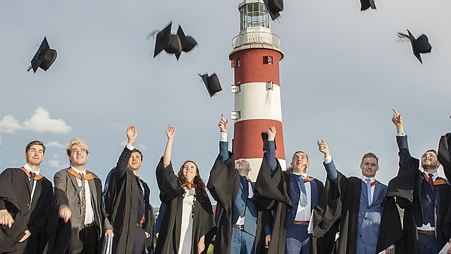 <p>Graduation on Plymouth Hoe</p>