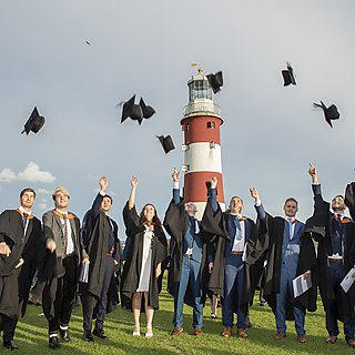 <p>Graduation on Plymouth Hoe</p> Usage: Student Life Magazine issue 7