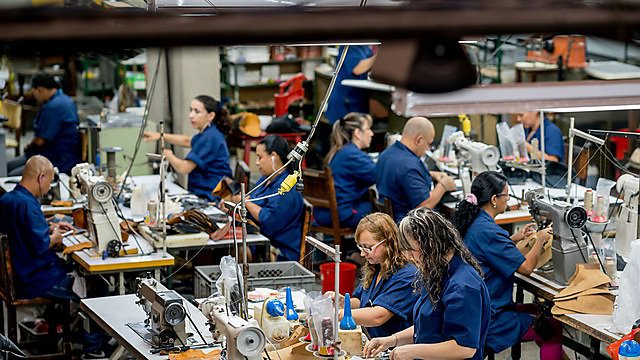 <p>  </p><div>Manual workers working at a factory.Group of Latin American manual workers working at a shoe-making factory.</div>  <br><p></p>