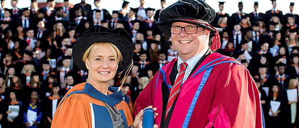 <p>Dr Sara Hurley, Chief Dental Officer, and Professor Christopher Tredwin</p>