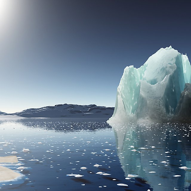 <p>Iceberg sunset in Antarctica.</p>