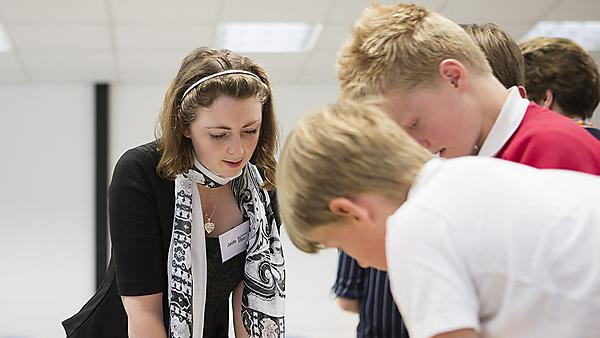 <p>  Mathematics with education students working on outreach as part of the Mathematics Enrichment Project  <br></p>
