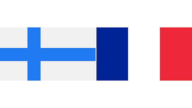 <p>finland and france flags 2</p>