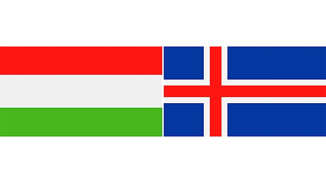 <p>hungary and iceland flags 2</p>