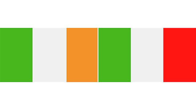 <p>ireland and italy flags 2</p>
