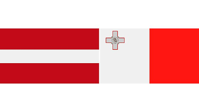 <p>latvia and malta flags 2</p>