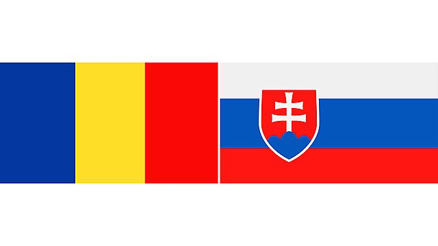 <p>romania and slovakia flags 2</p>