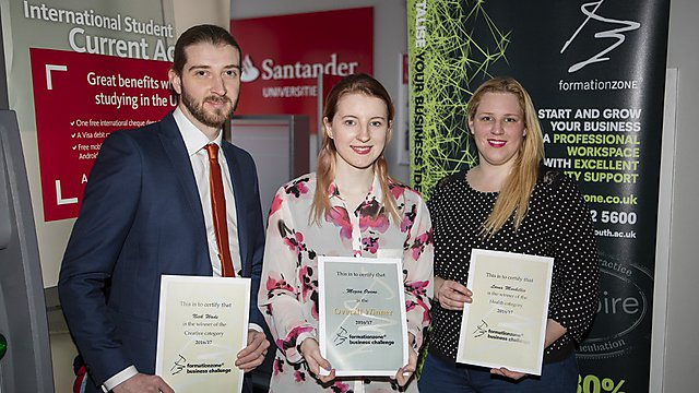 <p>2017 Formation Zone Business Challenge winners</p>