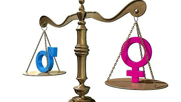 <p>Gender Equality Balancing Scale<br>A gold justice scale with the two different gender symbols on either side balancing each other out on an isolated white background<br></p>