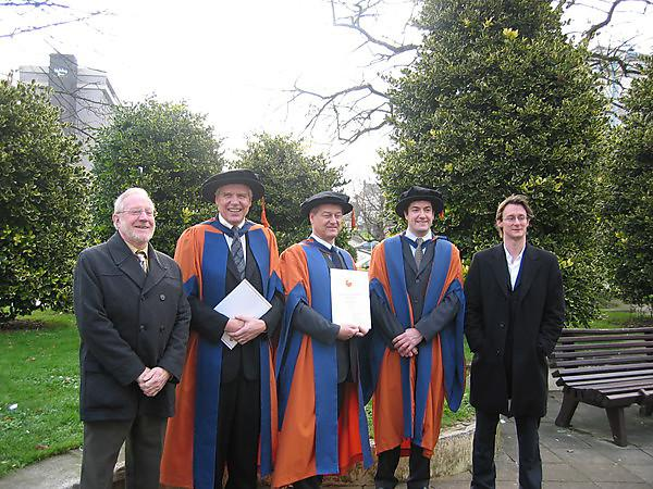 <p>Dr Klaus-Peter Fischer graduates in 2007 with academics with Darmstadt and Plymouth</p>