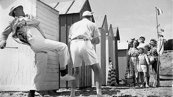 <p>Film: Mr Hulot's holiday (1953).  Black and white.</p>