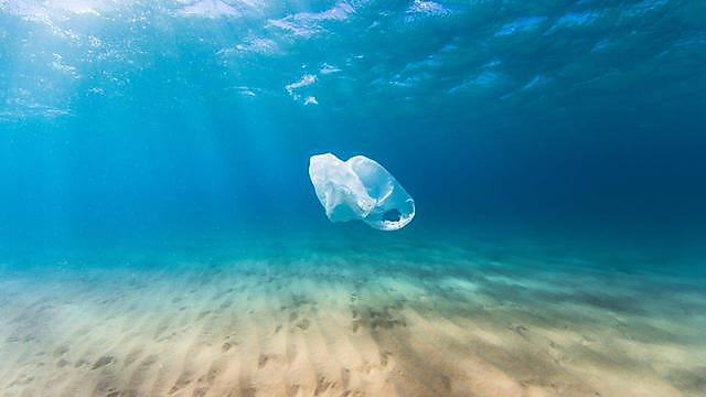 <p>Plastic bag in the ocean</p>