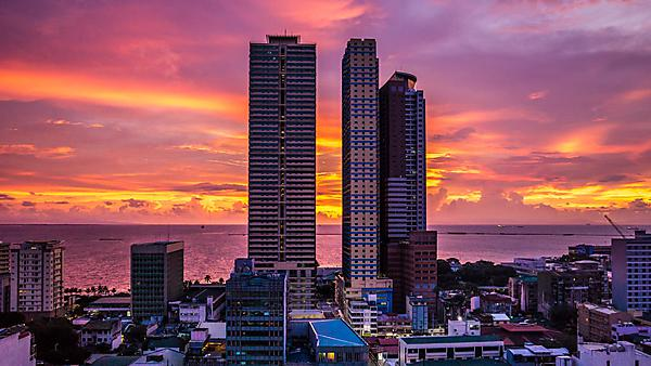 <p>Manila Bay sunset</p>