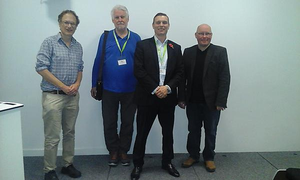 From left to right: Martin Rich (Cass Business School), David Andrew (Queen Mary University of London), Jonathan Moizer (University of Plymouth), Michel Parsons (University of South Wales).