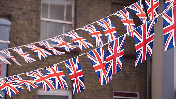 <p>British flag, bunting</p>