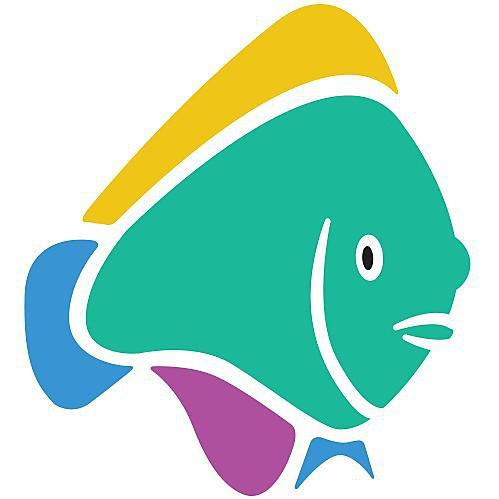 <p>Wrasse fish logo</p>