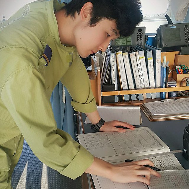 <p>Jisoo Kim preparing documents<br></p>