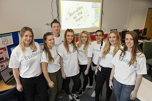 City College Plymouth - Students underline NHS message of using tissue to help contain flu