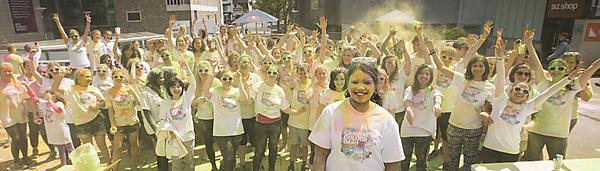 <p>RAGs colour dash in support of Brain Tumour Research</p>