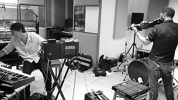 Jay Auborn and John Matthias in the studio