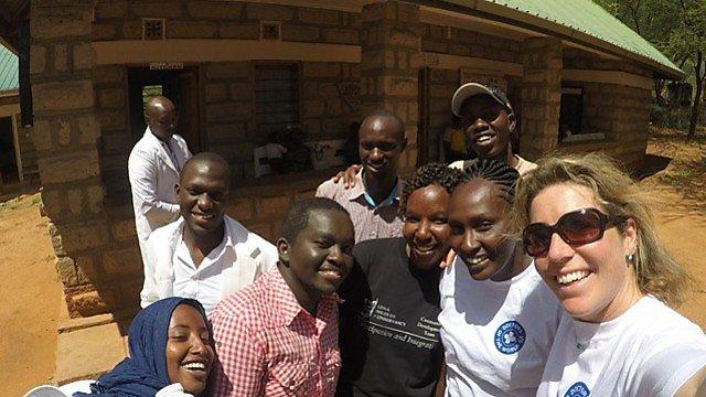 <p>Dr Lucy Obolensky in Africa</p>