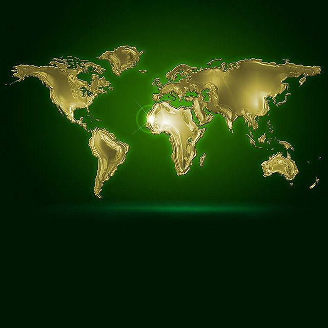 <p>ISA World map green square </p>