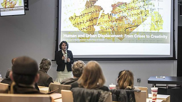 <p>Human and Urban Displacement - launch event. Sana Murrani<br></p>