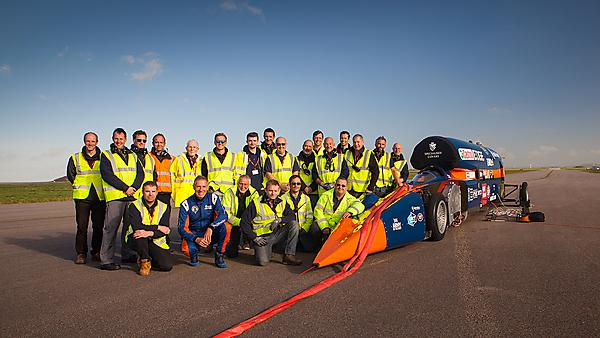 Bloodhound SSC at Newquay Airport - image credit Stefan Marjoram